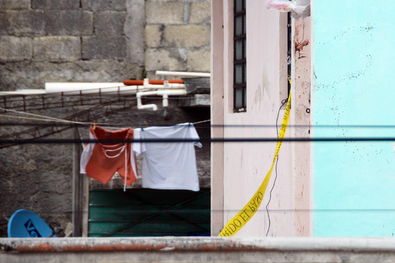 Domicilio de Makeev en Cancún, donde fue agredido por un grupo de personas.