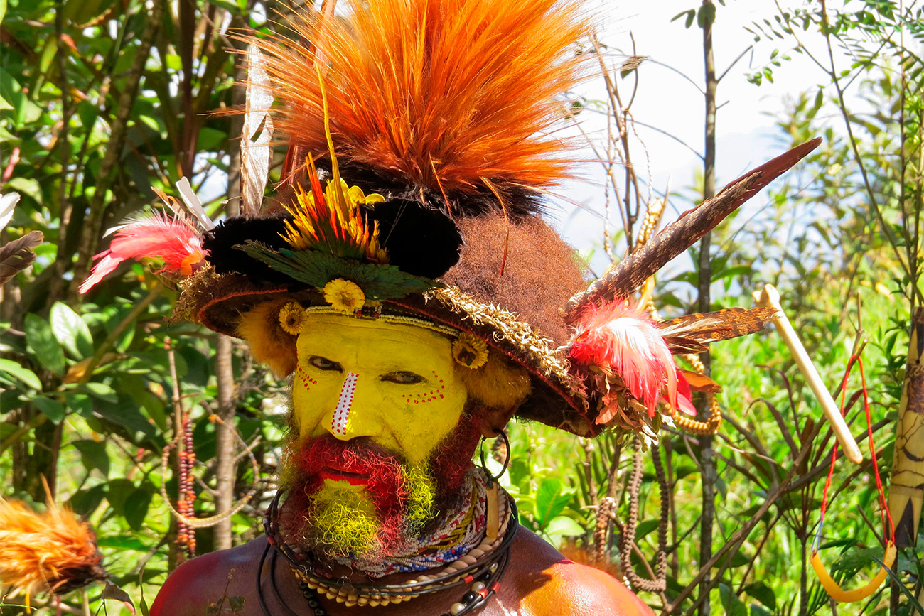 A man of the Bongu Village, Papua New Guinea. Photo from the personal archive of Nikolai Miklouho-Maclay. Source: Personal archiveSource: Personal archive