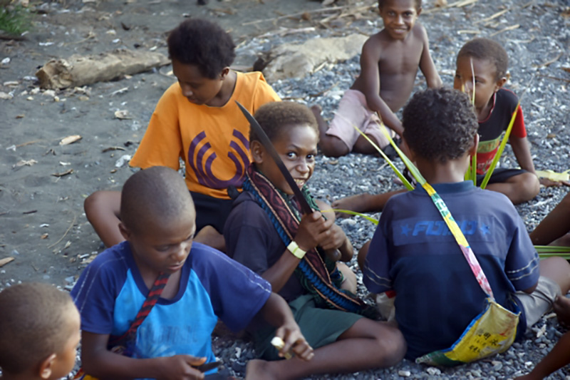 Children From the Bongu Village, Papua New Guinea. Photo from the personal archive of Nikolai Miklouho-Maclay. Source: Personal archive