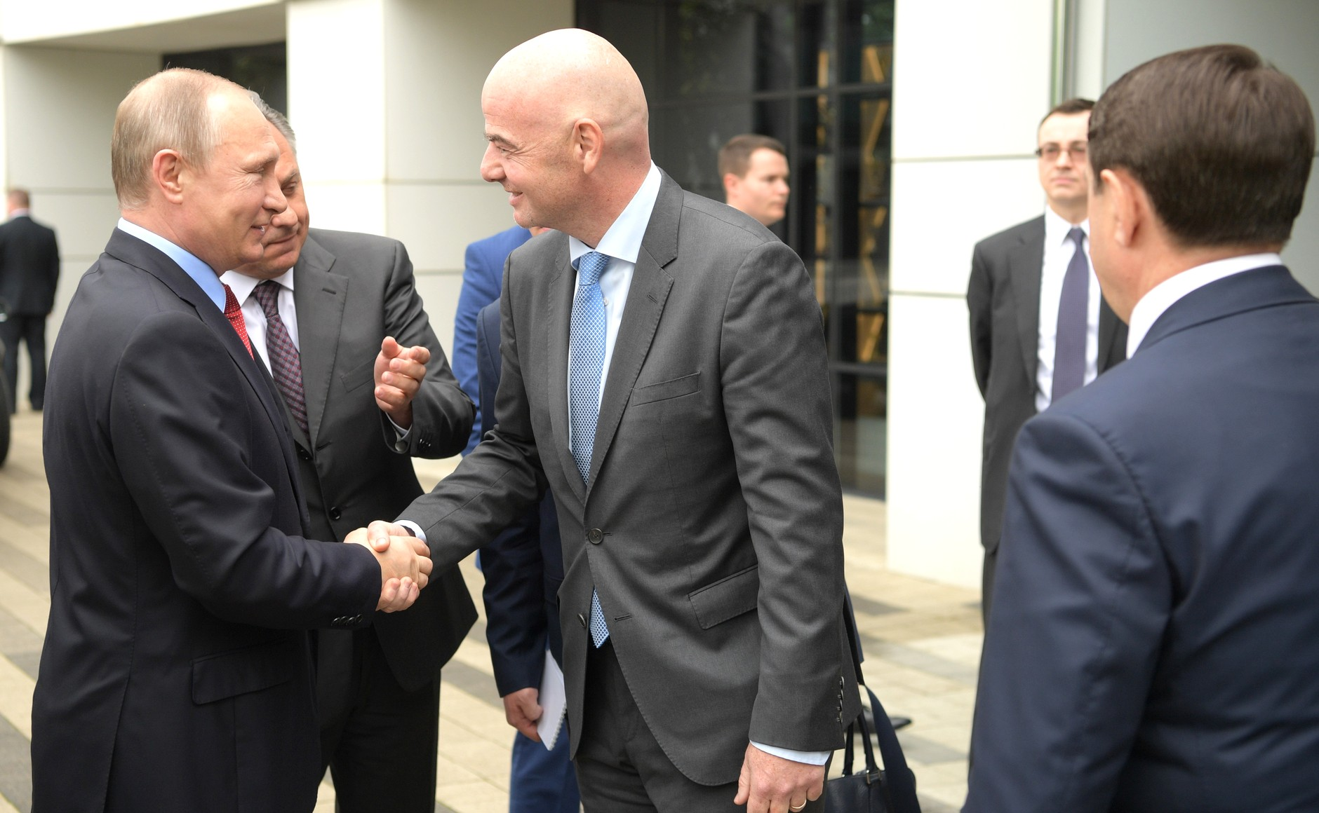 File photo: Vladimir Putin meets Gianni Infantino on May 23.