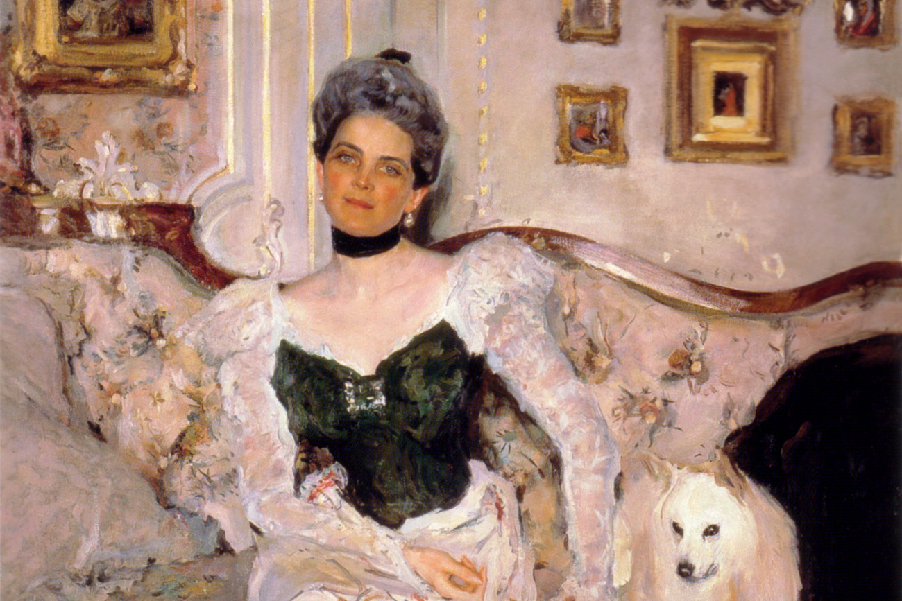 Portrait of Princess Zinaida Yusupova by V.Serov