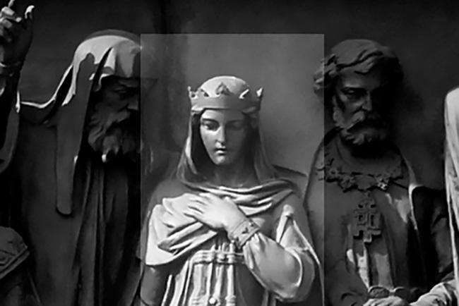 Анастасија Романова, споменик «1000 година Русије» у граду Велики Новгород. Илустрација:  Дар Ветер(CC BY-SA 3.0)