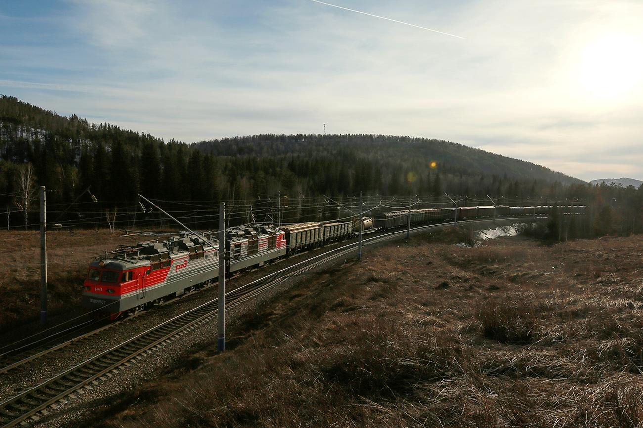 Del Transsibirske železnice pri Krasnojarsku
