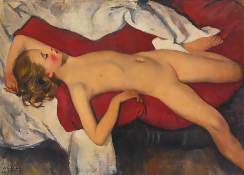 "Zinaida Serebriakova. Study of a Sleeping Girl. Source: <a  data-cke-saved-href=""http://dianov-art.ru"" href=""http://dianov-art.ru"" target=""_blank"">dianov-art</a>"