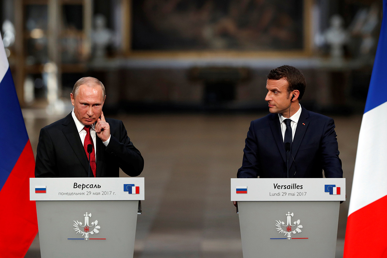Vladimir Putin i Emmanuel Macron /