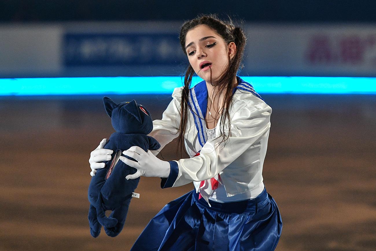 La pattinatrice Evgeniya Medvedeva.