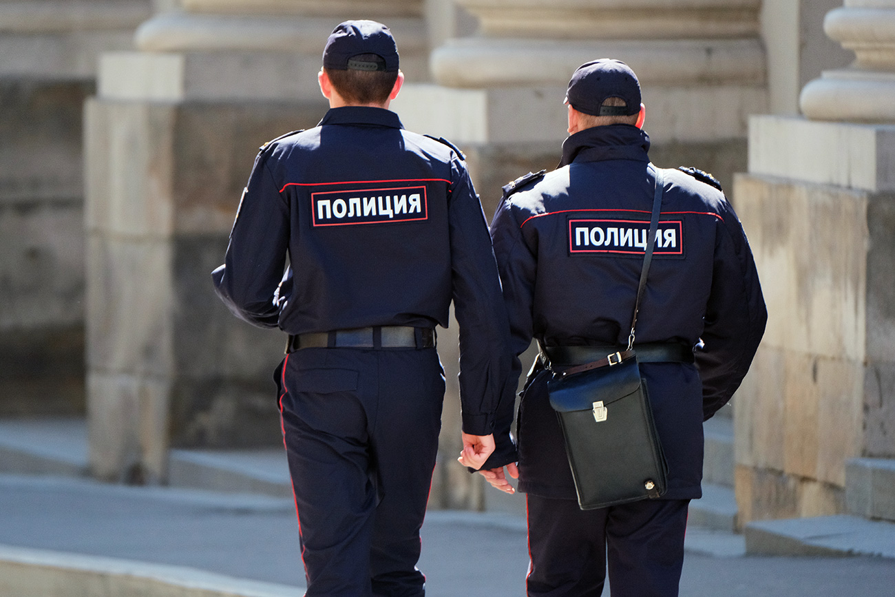 Police officers in Moscow.