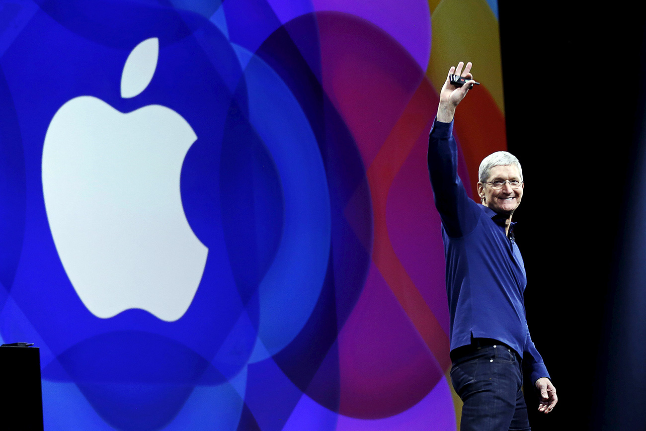 Il Ceo di Apple Tim Cook.