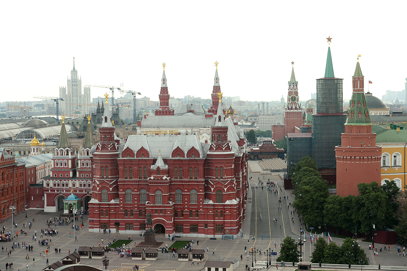The State History Museum in Red Square in Moscow.