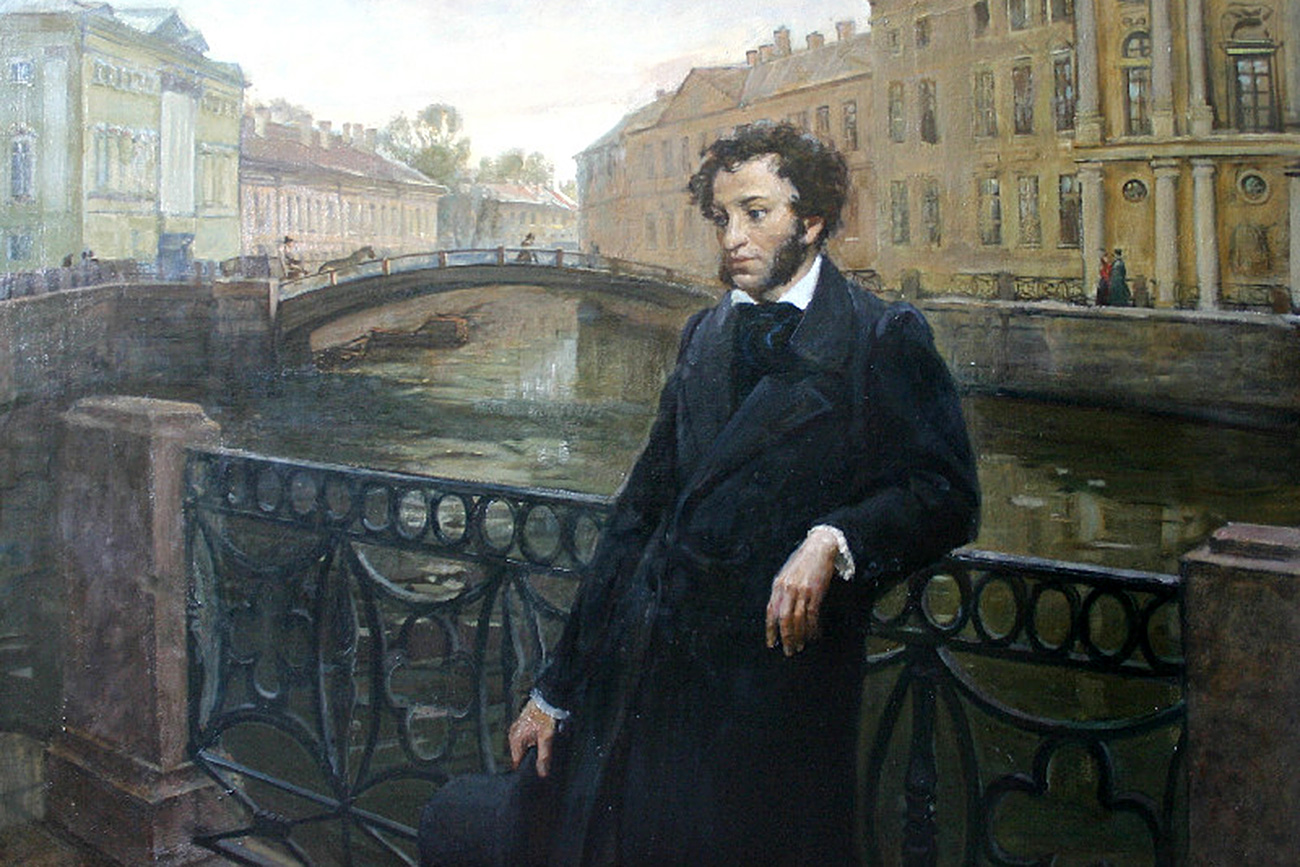 Pushkin on Moika River in St. Petersburg.