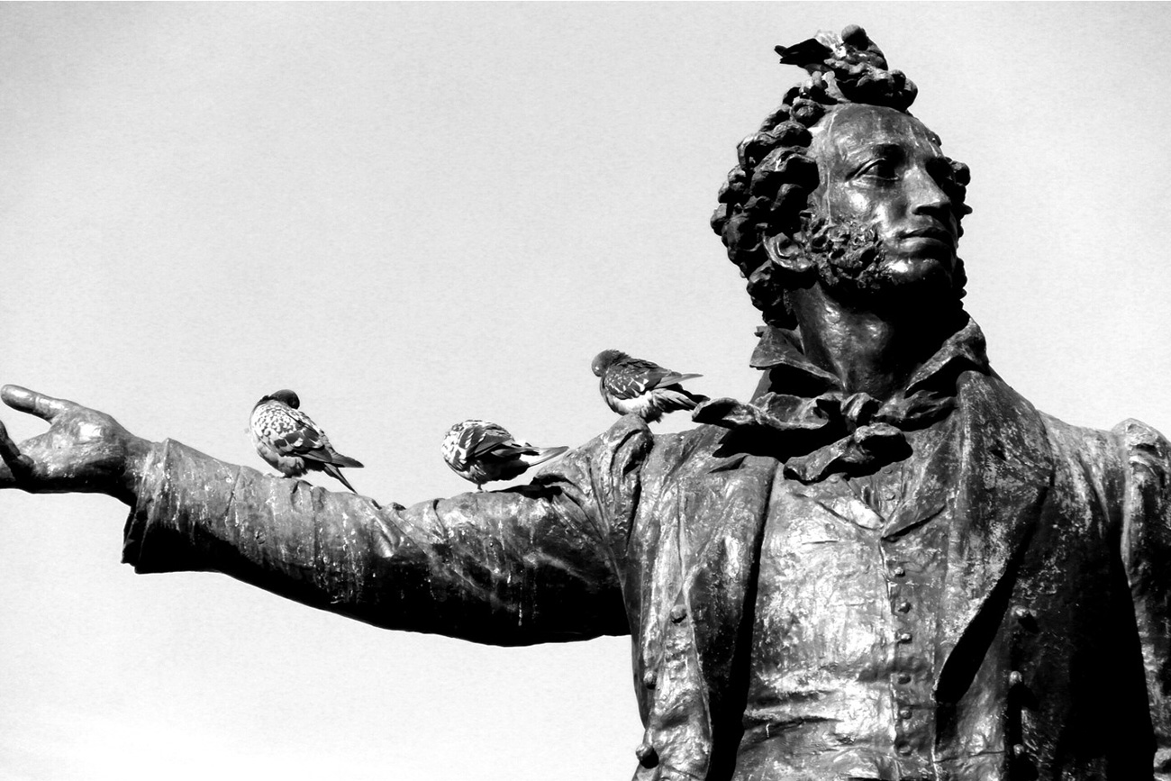 St. Petersburg: Pushkin is loved by all Russians…and St. Petersburg's pigeons.