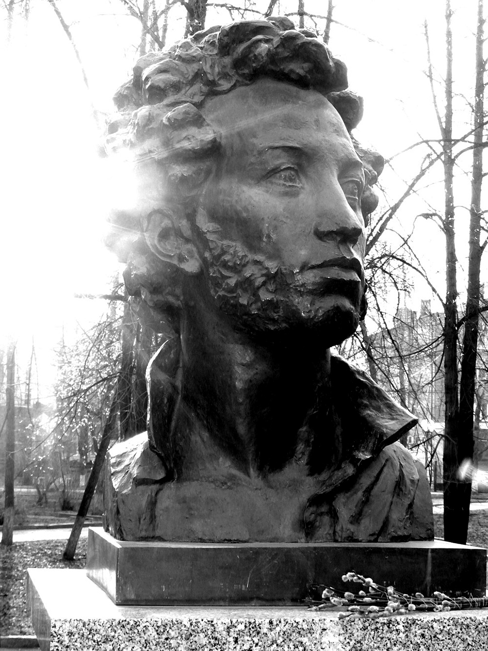 Tomsk: a young Pushkin embellishes this Siberian city.
