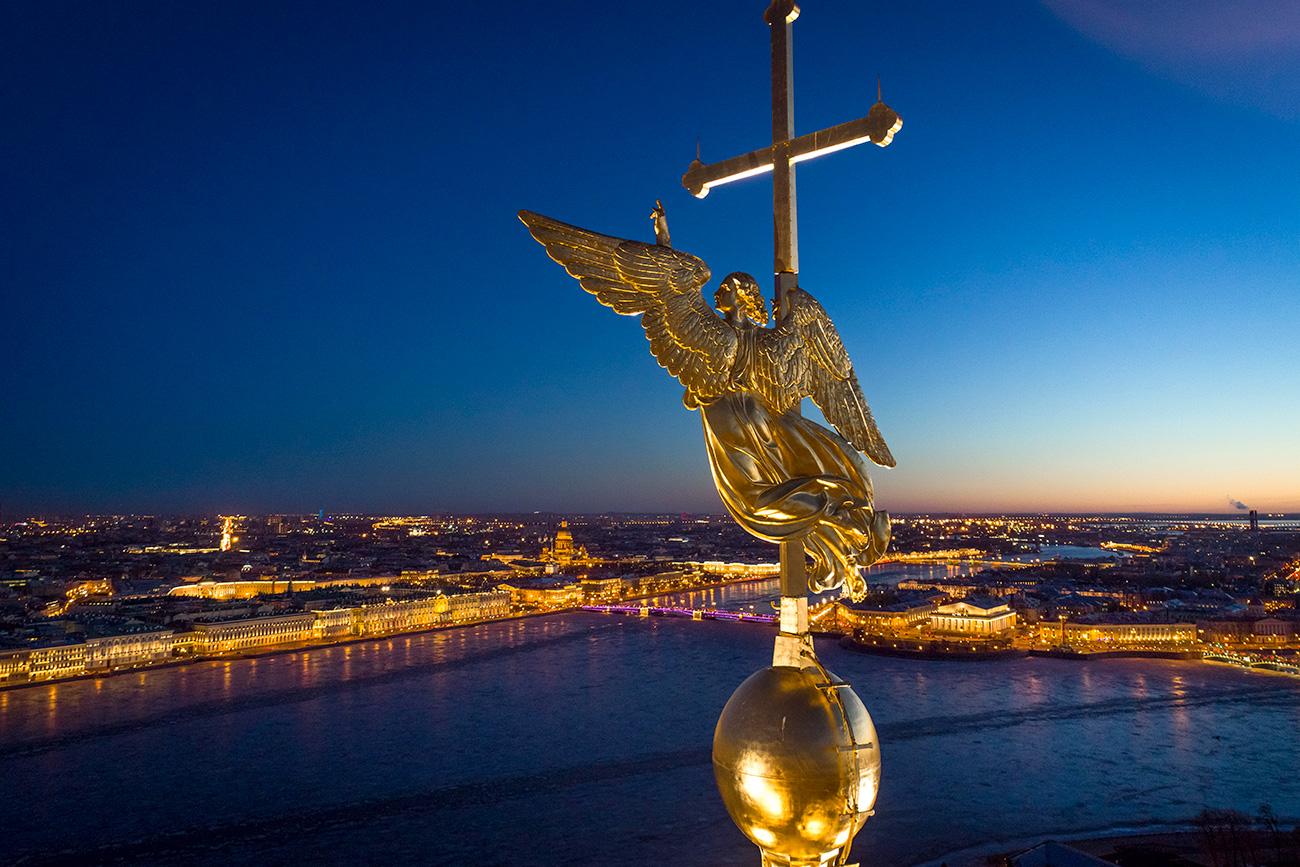 San Pietroburgo vista dall'alto.