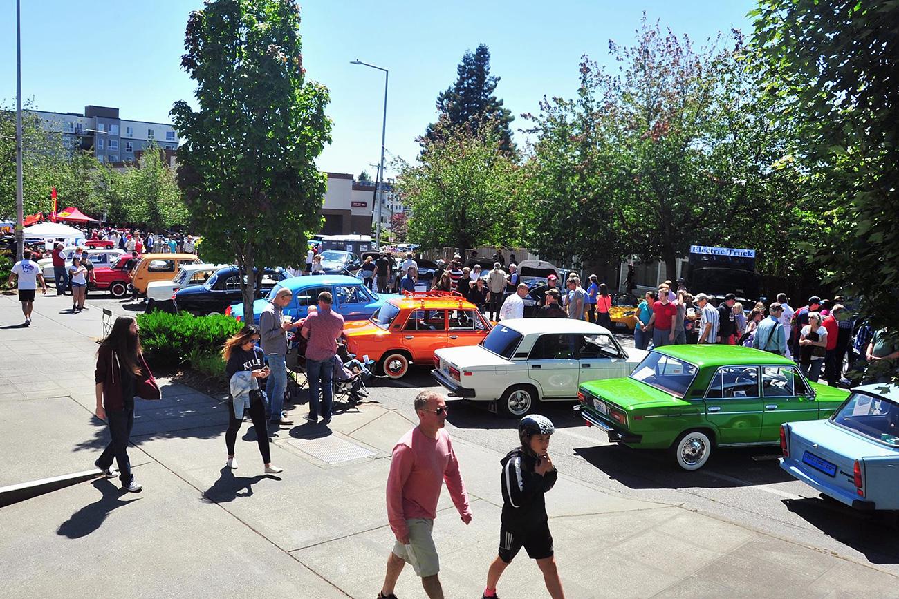 Mostra de carros retrô organizada pelo clube (Foto: Envio Photography and Art)
