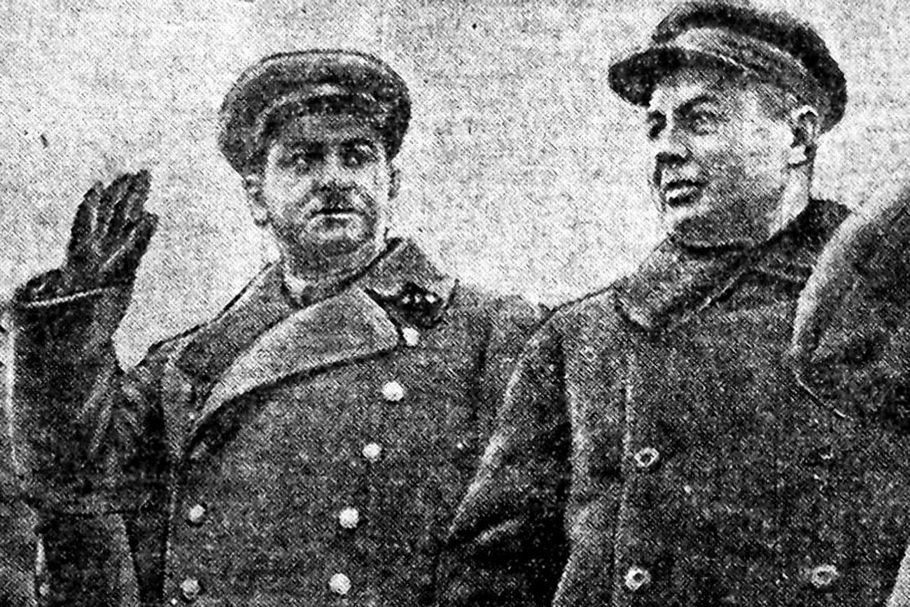 Хайнрих Люшков (отляво), 1937 г., Хабаровск / Фондът на Далекоизточната държавна научна библиотека