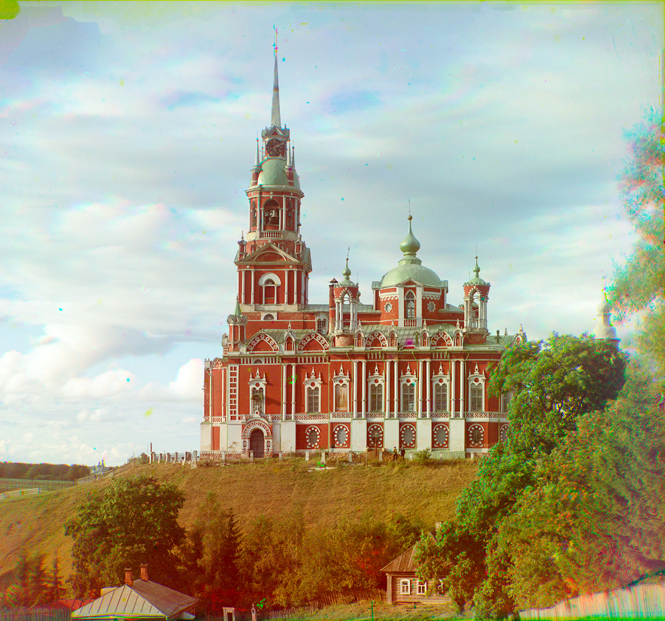 Cathedral of St. Nicholas, south view. Summer, 1911. / Photo: Sergei Prokudin-Gorsky