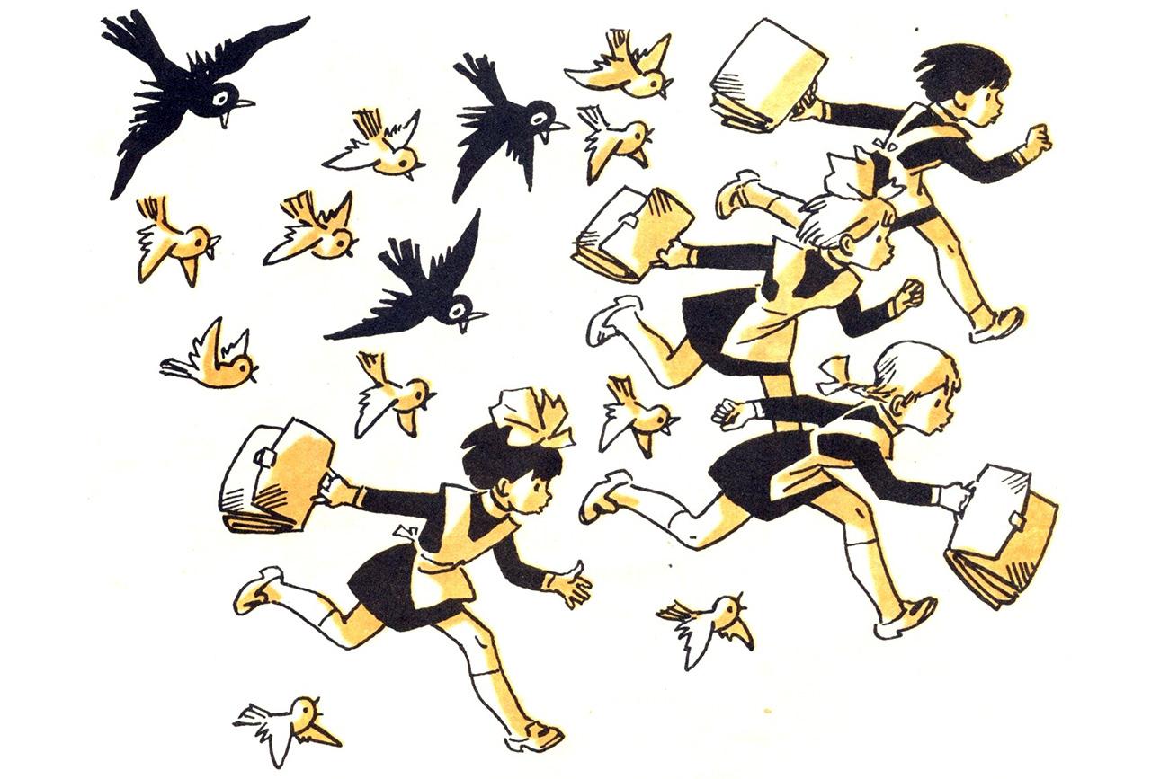 """Agnija Barto. """"Canzoncina sugli uccelli"""""""