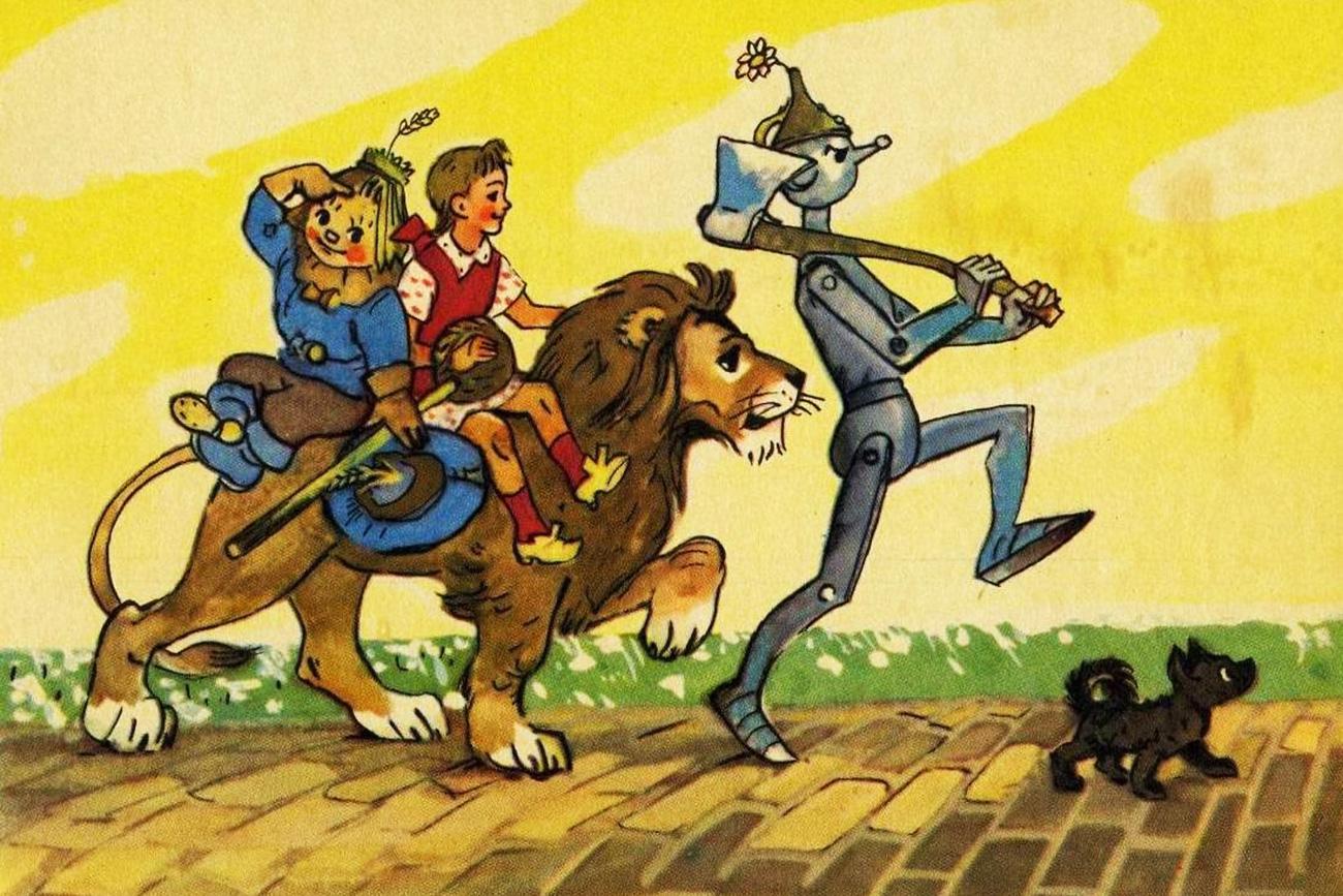"""""""O Mágico da Cidade Esmeralda"""", de Aleksandr Vôlkov. Ilustração: Leoníd Vladímirski"""