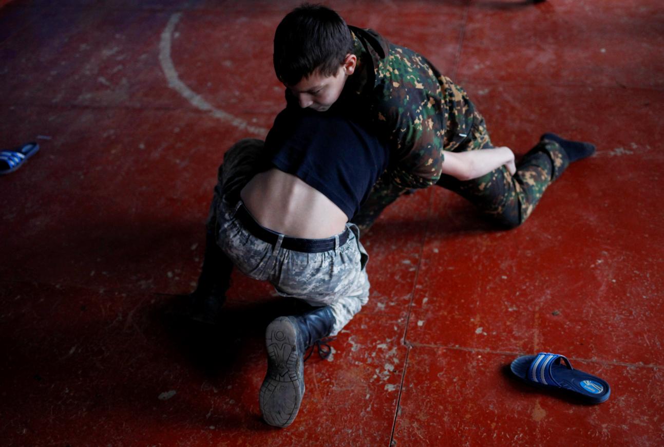 Nach jeder Trainingseinheit treten die Kadetten gegeneinander an.