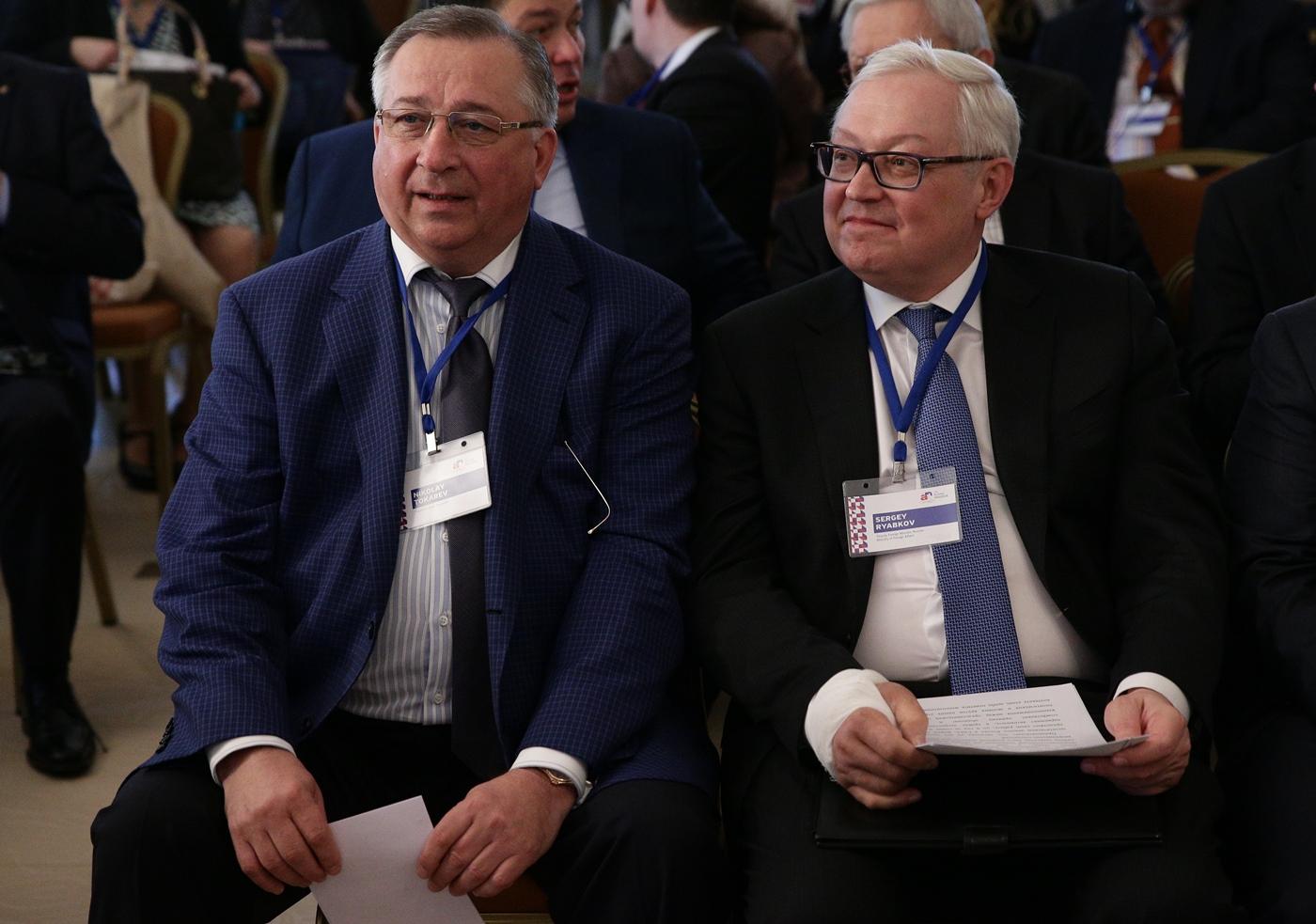 Nikolai Tokarev, President of Transneft, and Sergei Ryabkov, Russian Deputy Foreign Minister. / Mikhail Sinitsyn