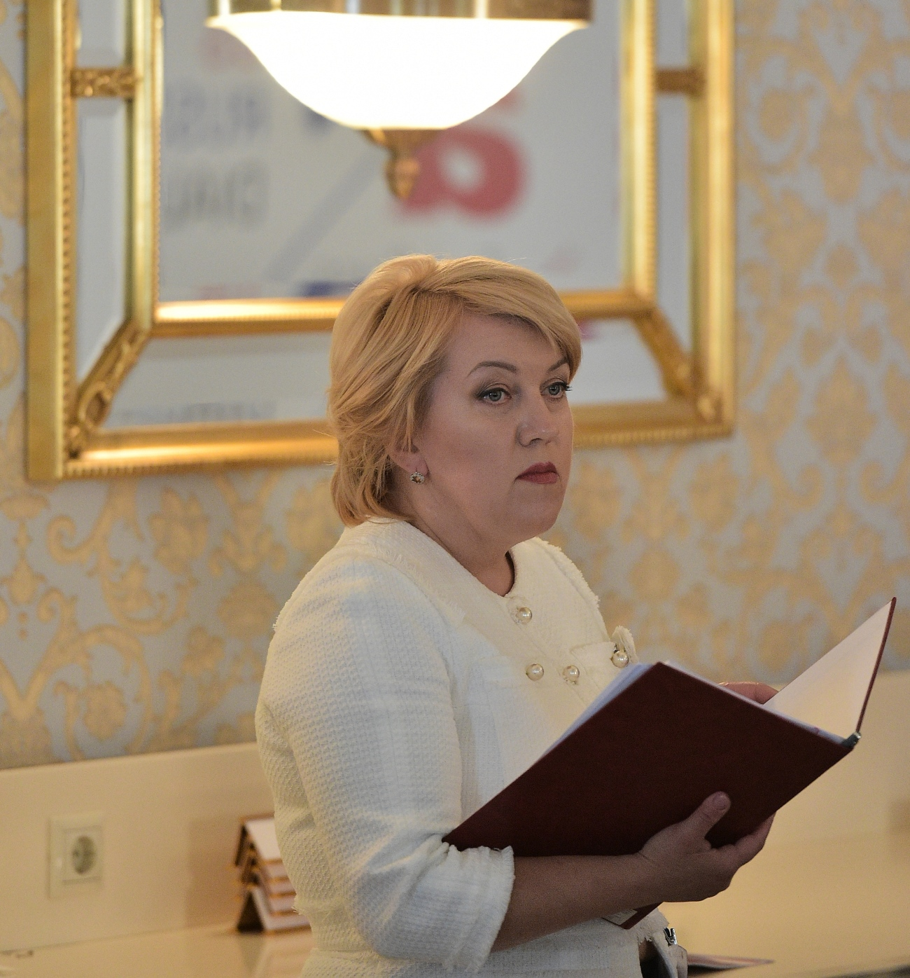 Natalia Dubrovskaya, director of the Izborsk State Museum-Reserve of History, Architecture, and Land.\n