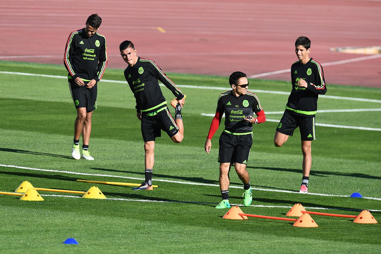 Репрезентацијата на Мексико на тренинг пред почетокот на Купот на конфедерации 2017.