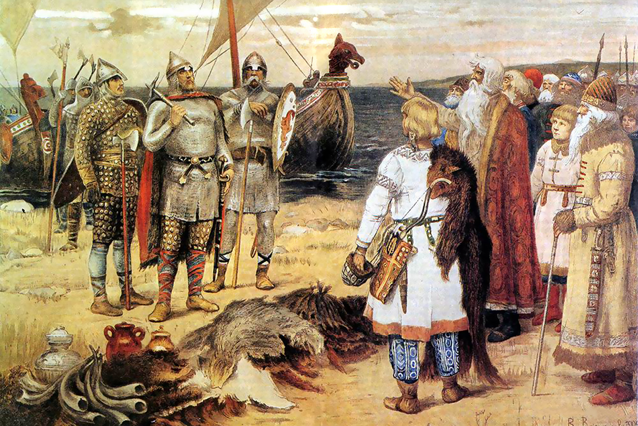The Invitation of the Varangians: Rurik and his brothers arrive in Staraya Ladoga.