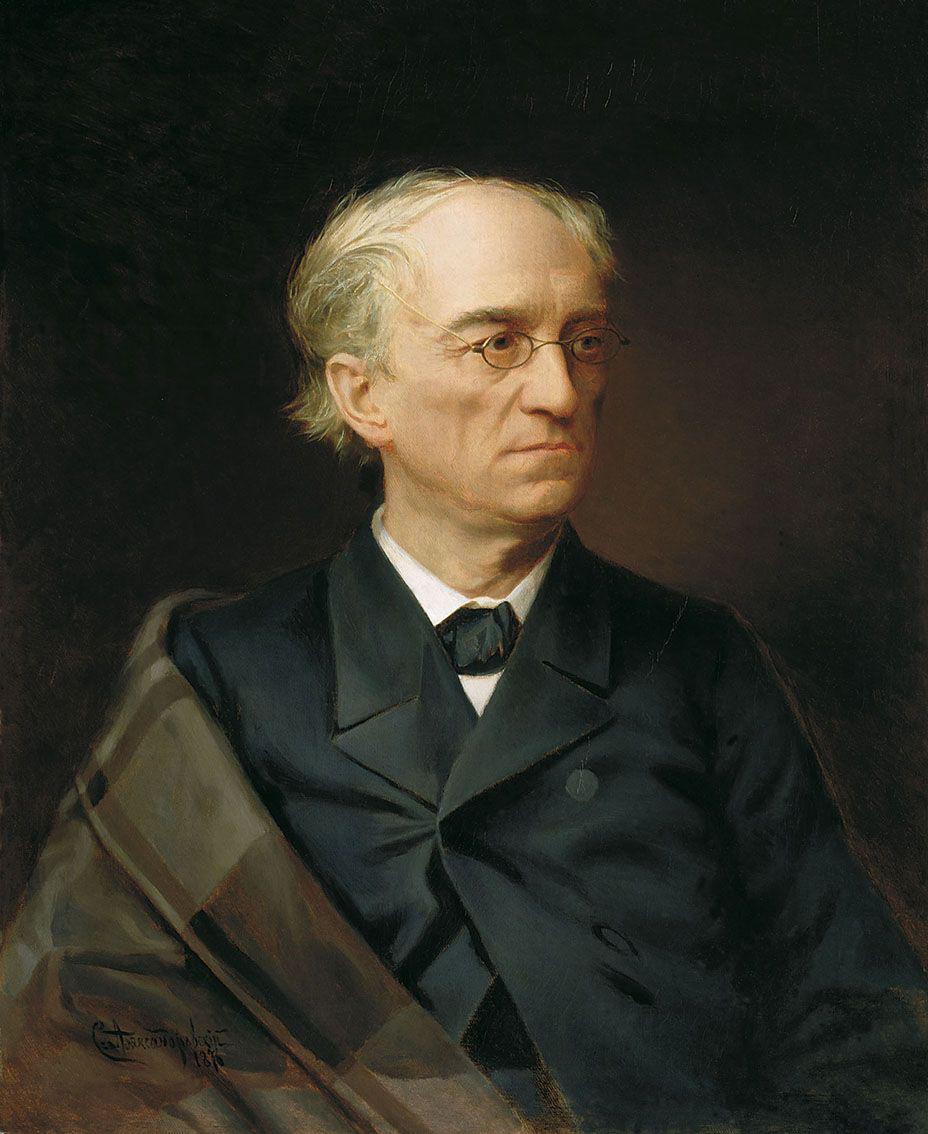 Portrait of Fyodor Tyutchev by S. Aleksandrovsky. Source: Tretyakov Gallery
