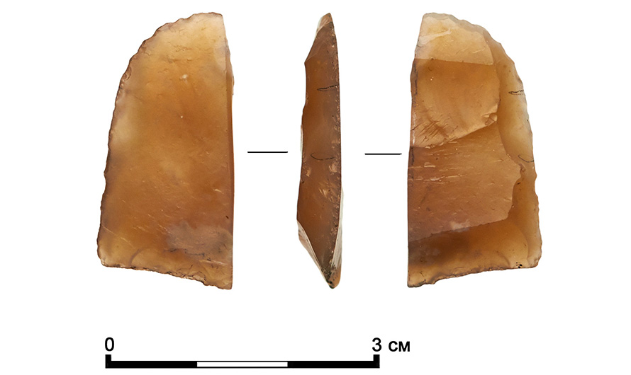 Flint cutters were every-day items used by Stone Age people.