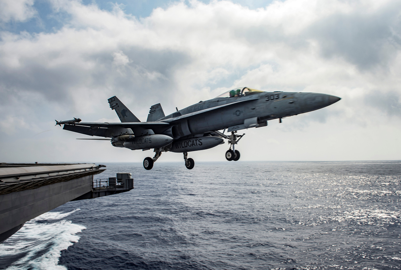 On June 18, an F/A-18E plane of the U.S. Air Force shot down Syria's Sukhoi-22 fighter-bomber.