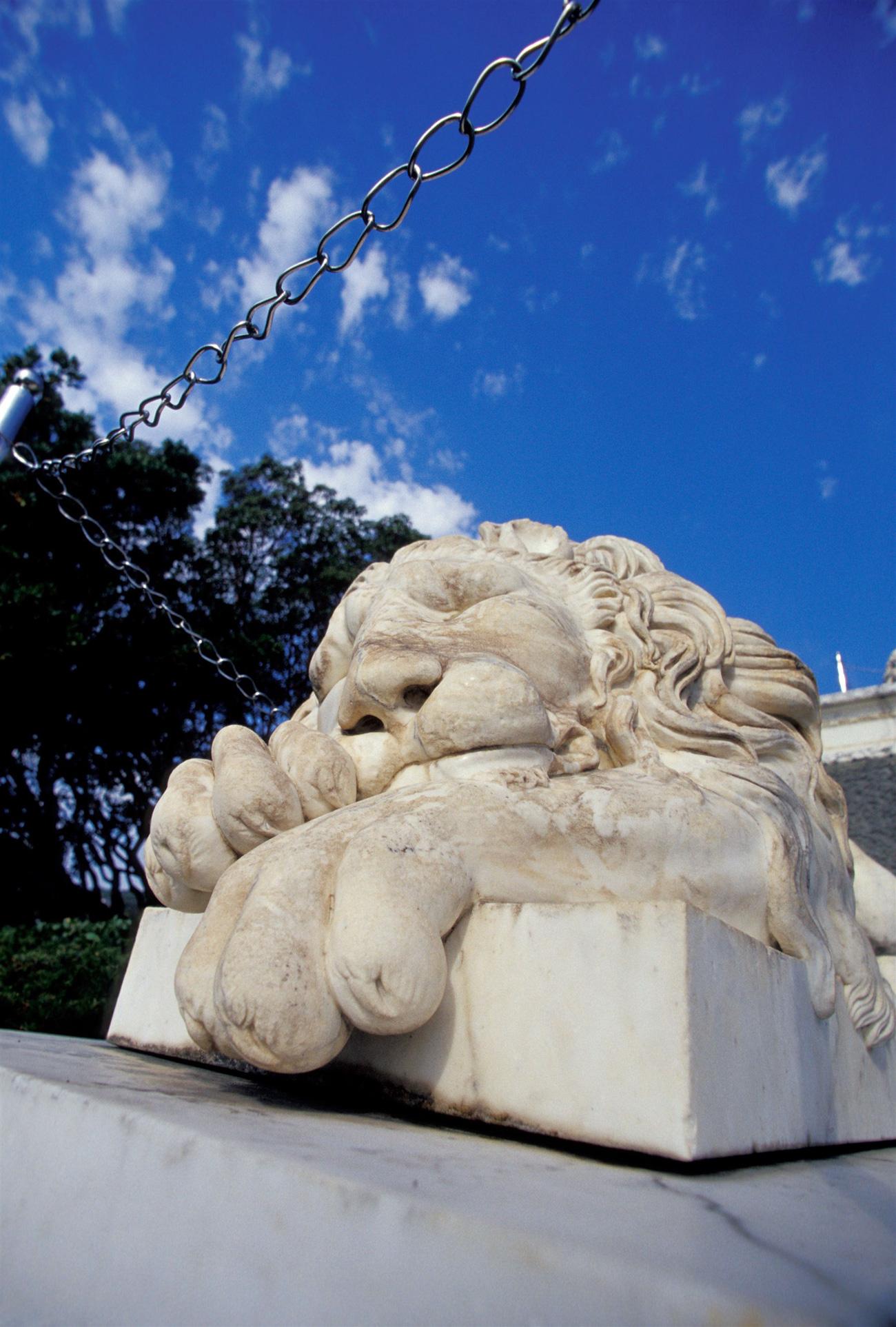 Sleeping lion stone statue. Source: Danita Delimont/Global Look Press