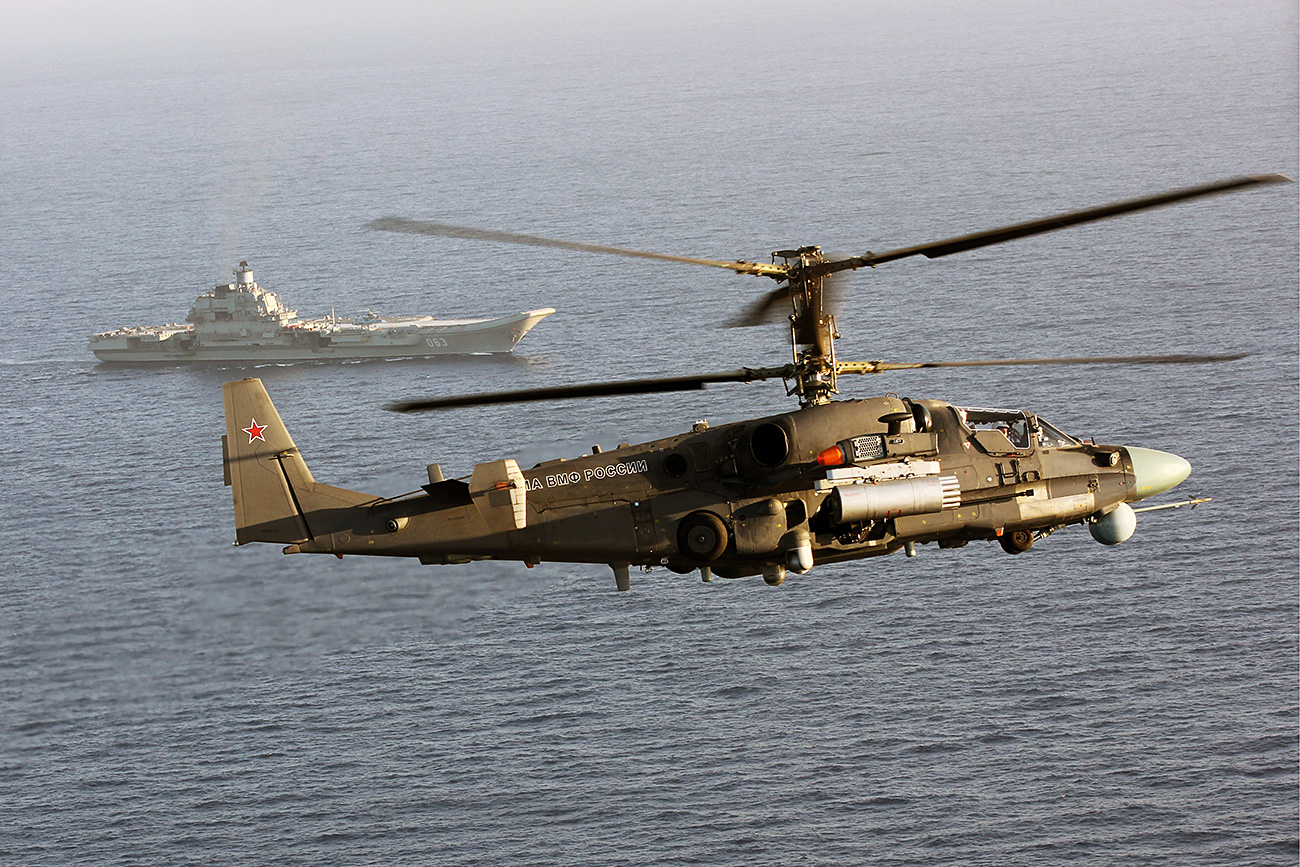 """""""The Ka-52K Katran is the only combat helicopter in the world that can carry large anti-ship missiles used by naval aviation."""" Source: Andrey Luzik/RIA Novosti"""