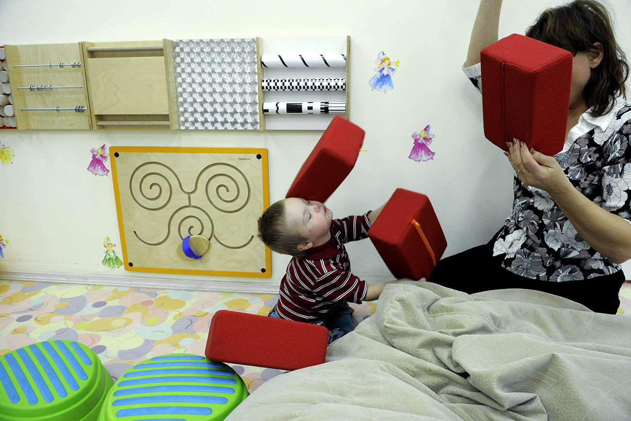 There are many kindergartens in Russia now working with disabled children. Source: Grigoriy Sisoev/RIA Novosti