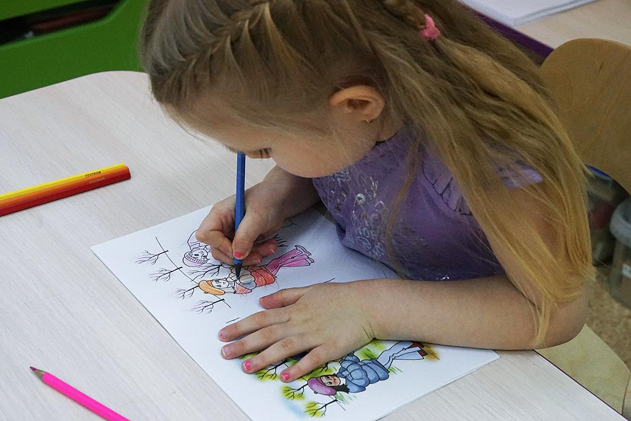 Drawing classes. Source: Igor Zarembo/RIA Novosti