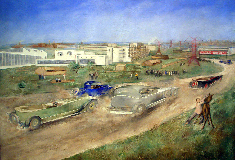 La Course automobile de Piotr Williams / Galerie Tretiakov