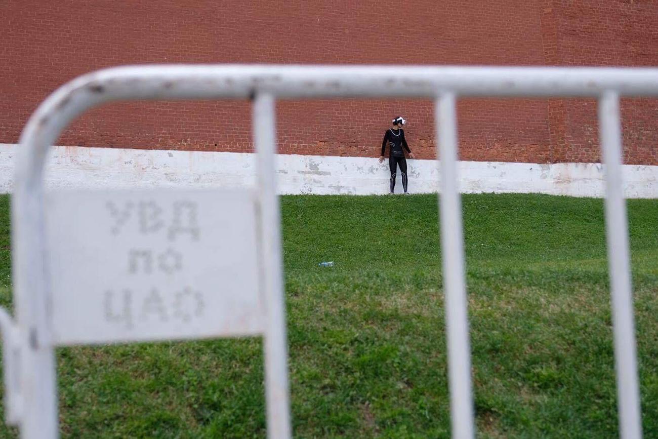 Katrin Nenasheva near Kremlin walls / Personal archive