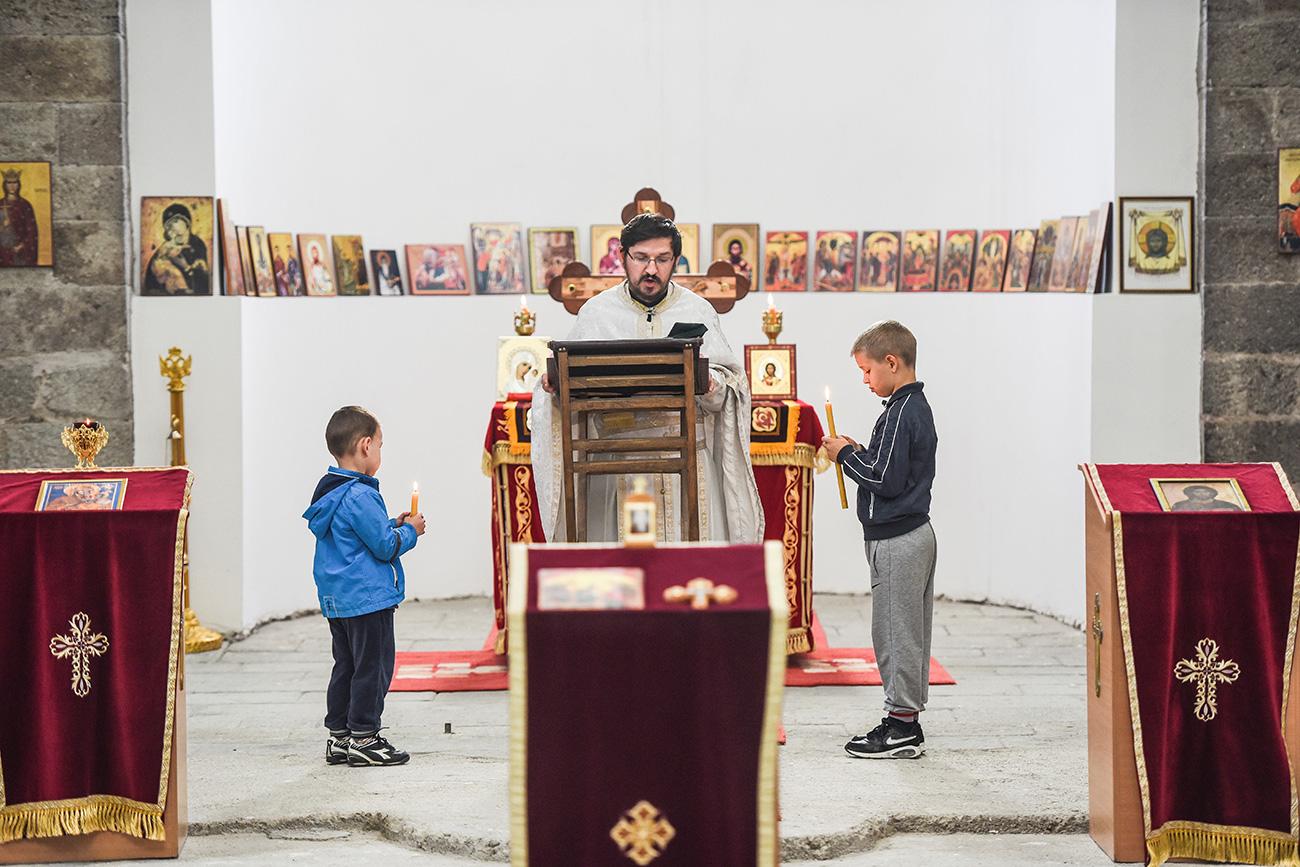 Храм Светог Саве у Косовској Митровици. Илустрација:  AFP