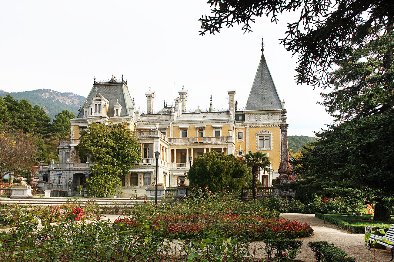 The Massandra Palace in Crimea.