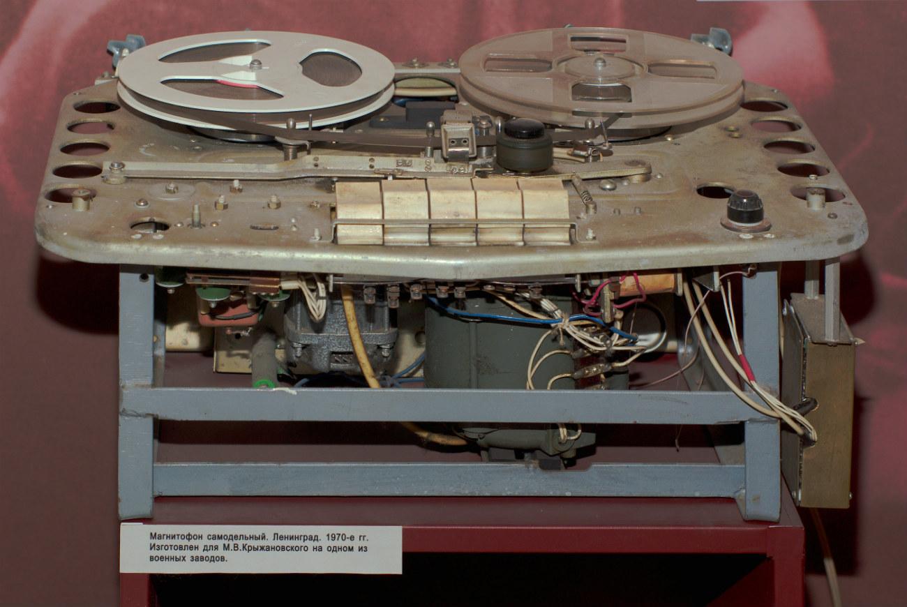 """Gravador """"Tembr"""" MAG-59M (de fabricação caseira), em 1964 (Foto: Museu Histórico do Estado da Rússia)"""