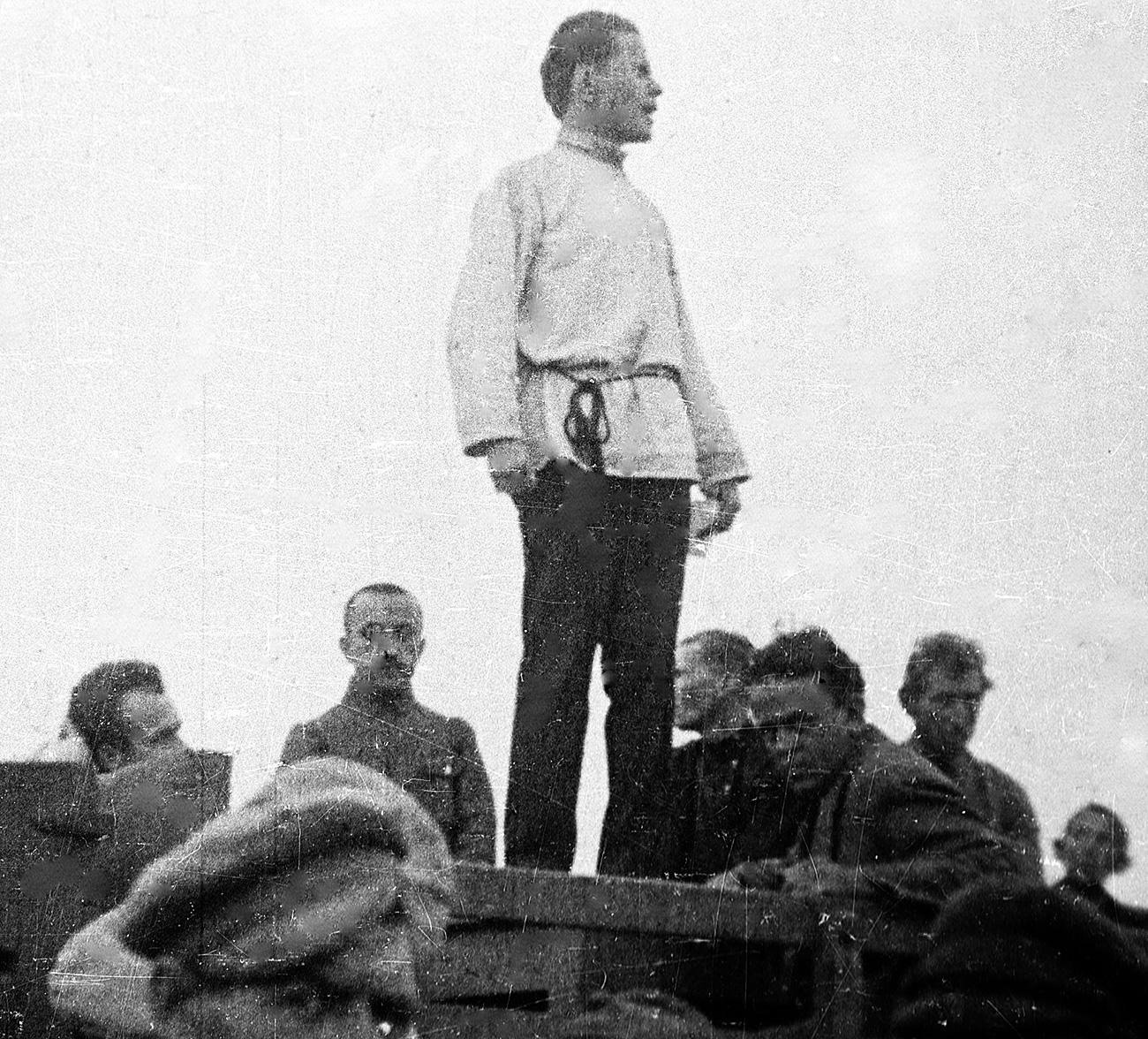 John Reed em uma greve em Nakhichevan. / RIA Nôvosti