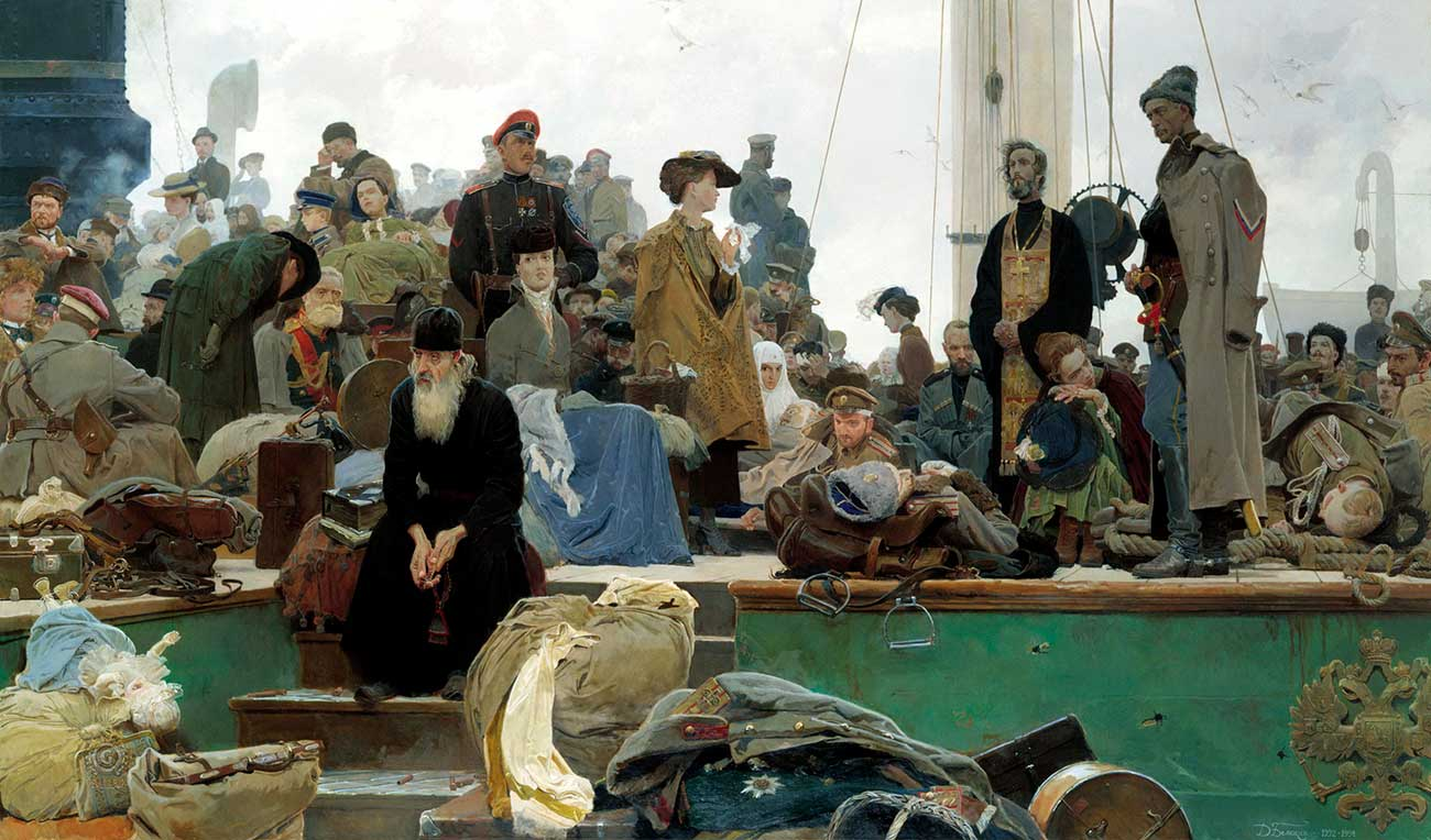 Dmitry Belyukin. White Russia. The Exodus. Source: Open sources