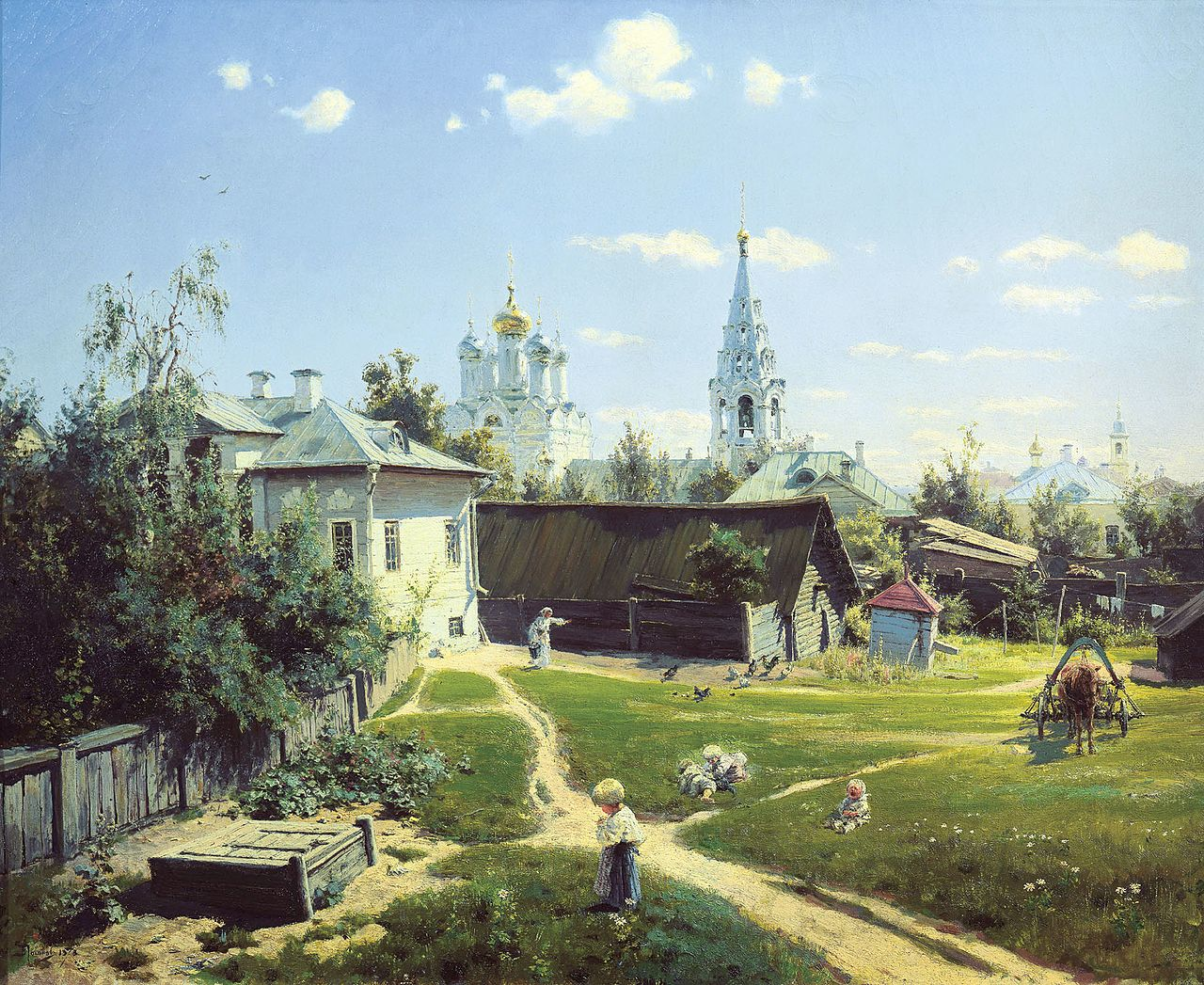 One of Polenov's most famous paintings - 'Moscow Courtyard'. Source: State Tretyakov Gallery