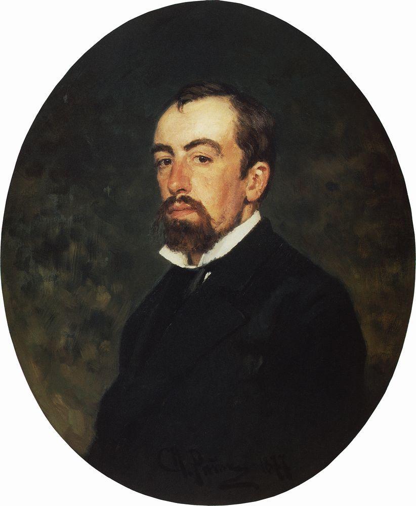 Portrait of Vasily Polenov by Ilya Repin. Source: State Tretyakov Gallery