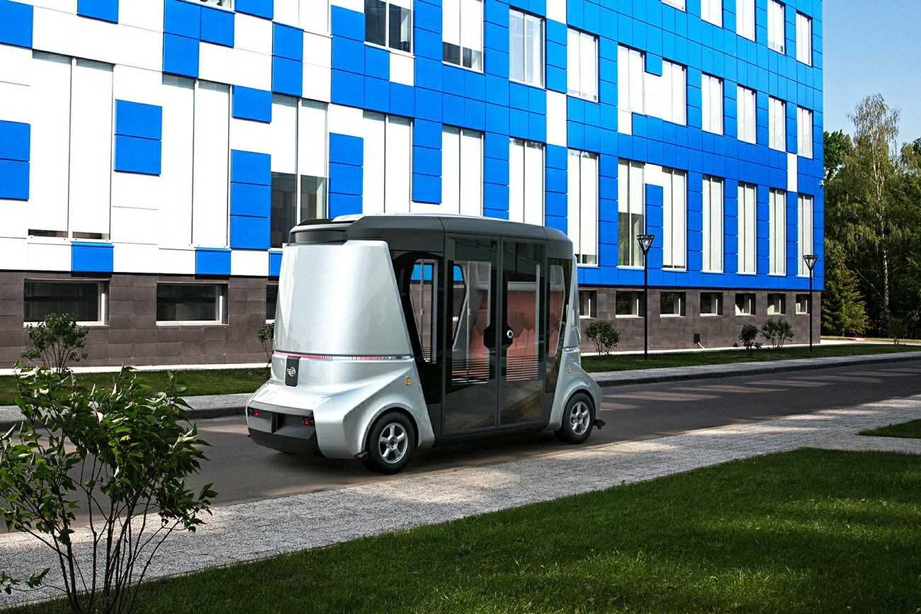 Matryoshka is a fully autonomous vehicle developed by residents of the Skolkovo innovation centerю