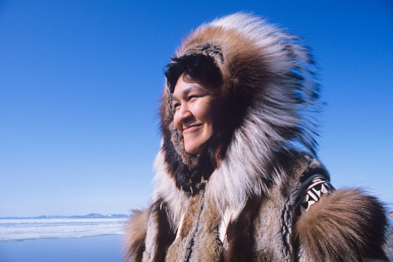These Eskimos live in a world where civilization and nature are the same place, and a man can easily be kidnapped by a raven or turn into a wolf.  No, these people aren't mythical - they're perfectly real.