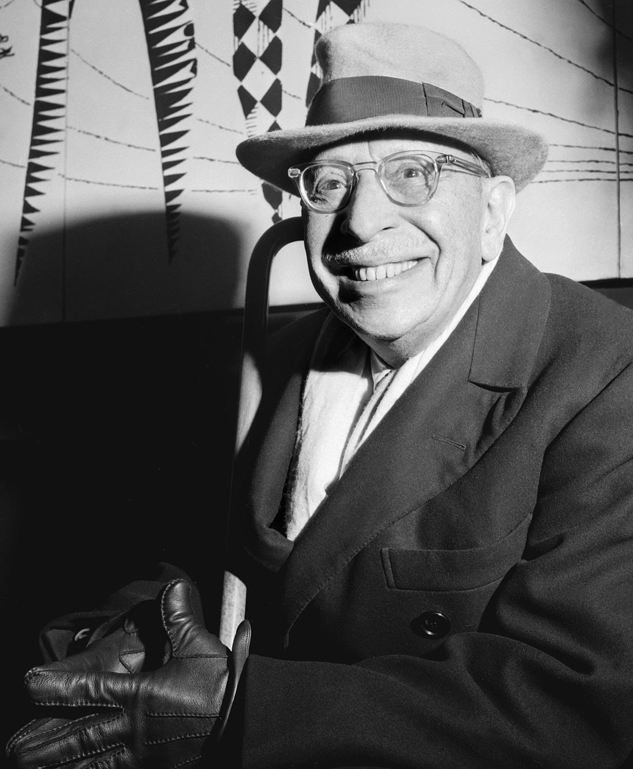Igor Stravinsky à Paris. / AFP