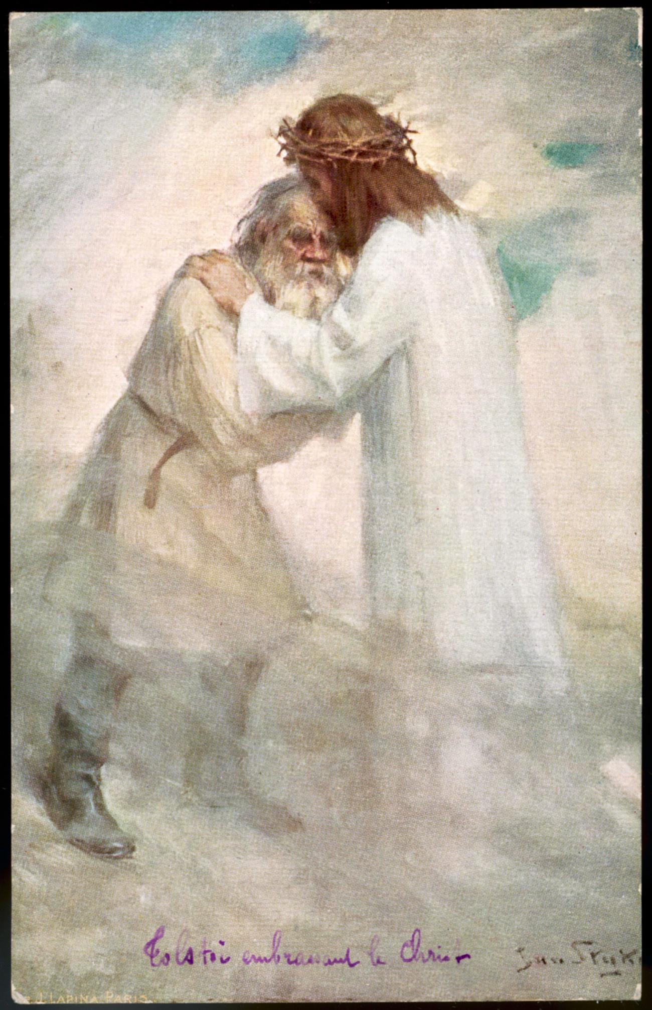 Jan Styka. Leo Tolstoy Embracing Jesus, 1910. Source: Mary Evans Picture Library/Global Look Press