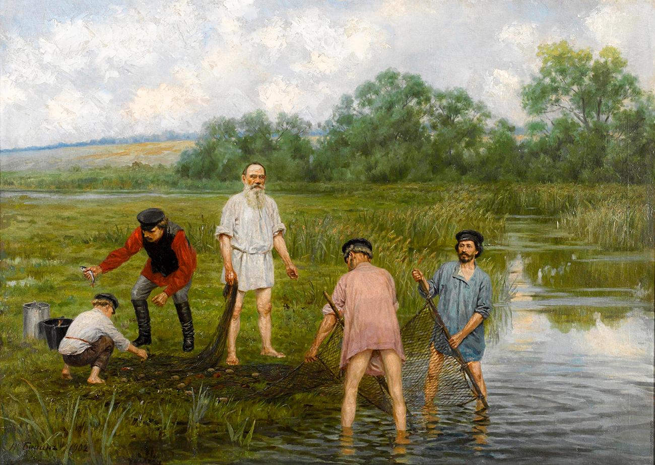 Narkiz Bunin, Fishing, 1903. Source: Bonhams