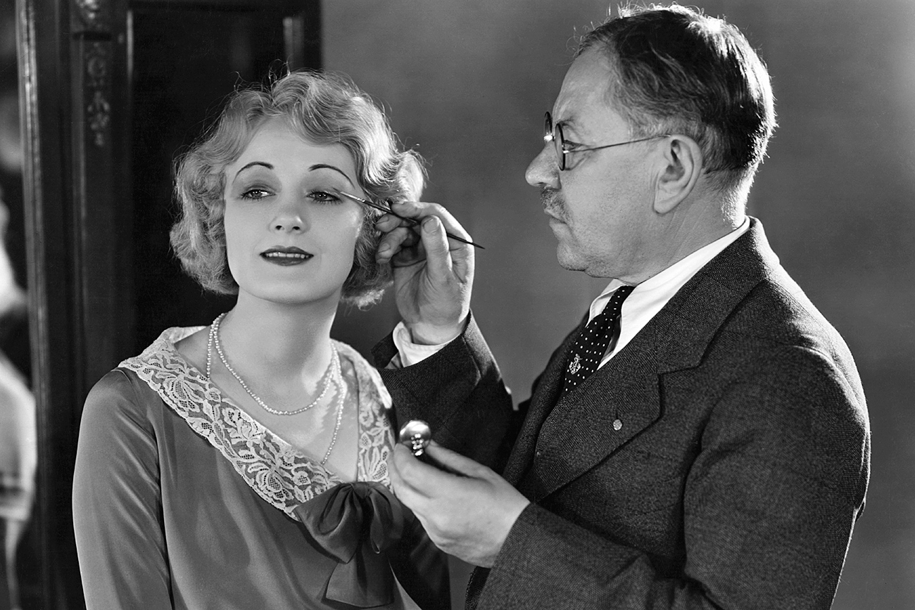 Max Factor Applying Makeup to Josephine Dunn