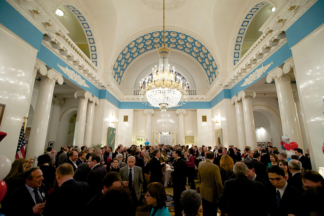 Guest attend the reception at the Spaso House. / AP